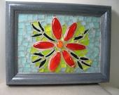 Red Flower Power Mosaic