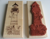 Key West Lighthouse - Wood Mounted Rubber Stamp