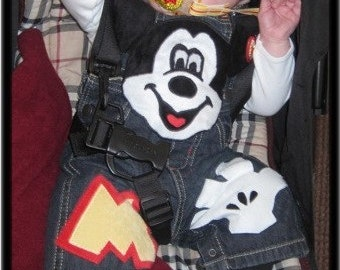 Cutiepies Couture custom boutique boys Mr. Mouse Overalls 3m-5T