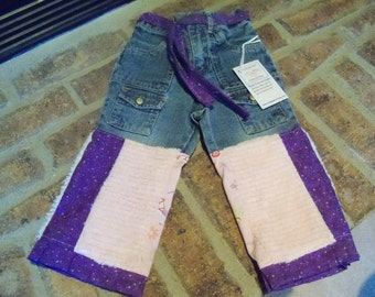 New Custom boutique Cutiepies Couture Girls chenille  princess jeans  2T  Super fun sale