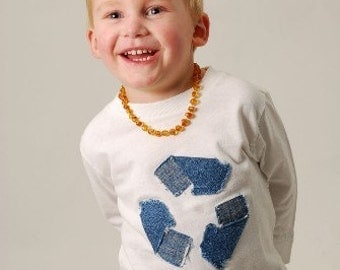 Cutiepies Couture custom boutique boys and girls Denim recycle shirt