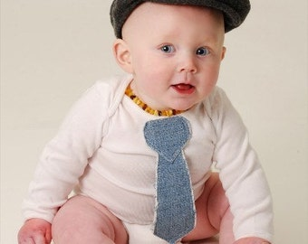 New Cutiepies Couture Custom boutique boys 3D denim fray tie shirt