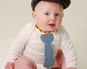 New Cutiepies Couture Custom boutique boys Minky, chenille, or denim  tie onsie nb-24m Custom