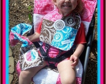 Cutiepies Couture custom boys girls boutique made five point stroller pad made just for you