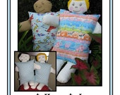 Pillow Pals Pattern in two sizes for boy and girls