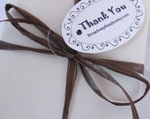 Thank You Tags Ornate Custom Design for your packages 00060a