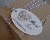 Sewing Thank You Tags Gift Tags Oval Custom Personalized  00106c