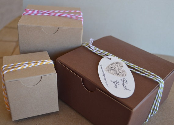 Kraft Brown Favor Boxes 2x2x2 Gift Box Packaging