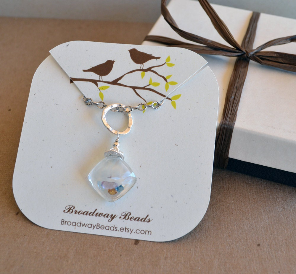custom necklace cards jewelry display packaging by
