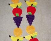 DIY Food Art Crochet Pattern 4 Fruit Salad Scarf Apples
