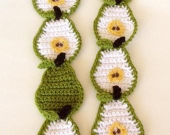Crochet Pattern for Pear Scarf