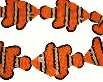Clown Fish Scarf Pattern Crochet pdf