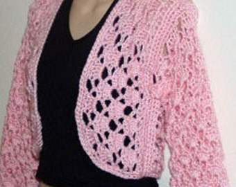 Cluster Shrug Sweater Cardigan Crochet Pattern pdf