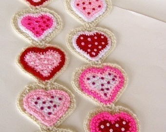 Cookie Heart Scarf Crochet Pattern PDF