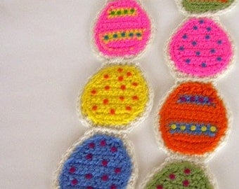 Easter Egg Sugar Cookie Scarf Crochet Pattern PDF