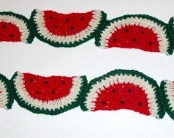 Crochet Pattern for Watermelon Novelty Scarf