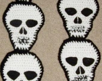 DIY Crochet Pattern for Skull Scarf No shipping cost