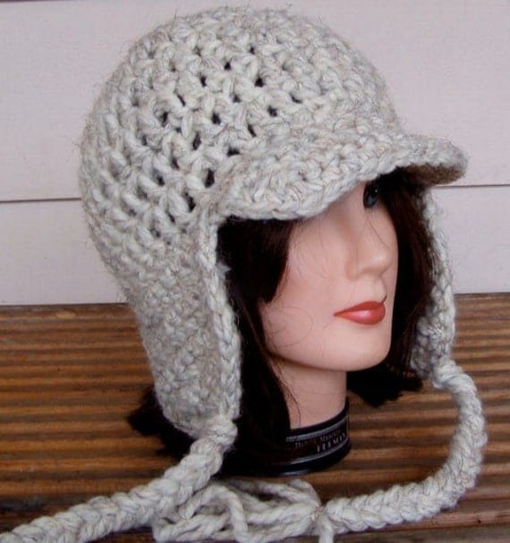 Crochet Womens Hat With Ear Flaps Pattern : 2 Crochet Patterns for Hat With Ear Flaps and Ties pdf