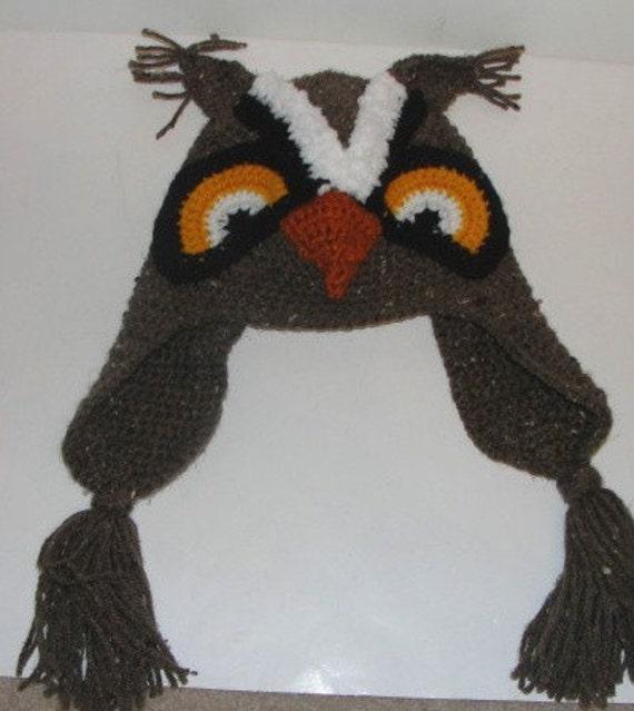 Crochet Critter Owl Hat Pattern PDF
