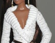 Antoinette's Crossover Sweater Crochet Pattern (also fits Ellowyne Wilde)