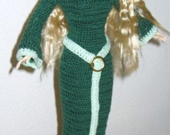 Elven Forest Maiden Dress pattern for Barbie