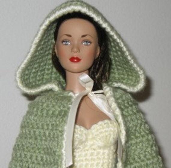 Hooded Cloak Crochet Pattern for 11.5 inch or 16 inch Fashion Doll