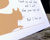 The perfect card to go with that gift - the irate squirrel speaks for you - set of four