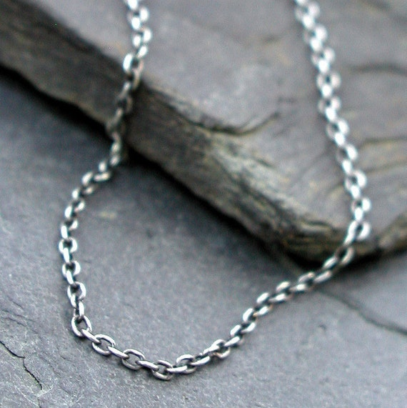 Oxidized Sterling Silver Cable Chain - CLASSIC