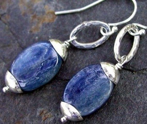 Kyanite Errings - Kyanite and Sterling Silver