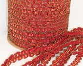 Red and Gold Gimp - Trim Me Up 5 Yards DESTASH