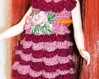 Cranberry and Pink - BLYTHE DRESS