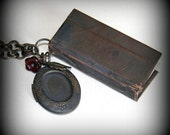 Rememberance Copper Hand Made Mini Book Blank Journal Necklace No 1