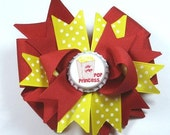 Boutique Popcorn Princess Bottle Cap Hair Bow Clip