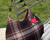 SALE-Everyday Bag Red Plaid with Heart
