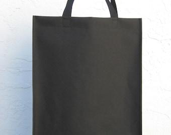 Tote Bag - Black Nylon Canvas Large