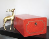 vintage photo album box