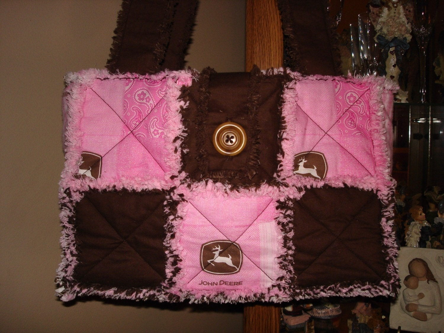 Rag Quilted Handbag Pattern : Items similar to Make your Own RAG Quilt PURSE Tote Bag Pattern Instructions PDF on Etsy