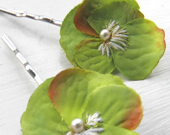 Little Viola Clips - Green