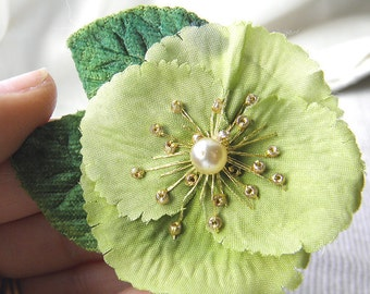 Pistachio Poppy Corsage