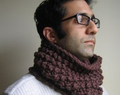 The Urbane Man knit cowl- Brown