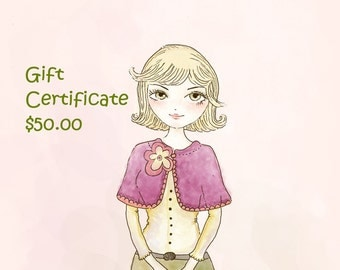 Happiknits Gift Certificate Fifty dollars