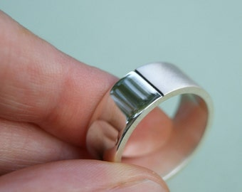 Half and Half Ring, size 9.75, unisex band