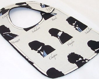 Baby Bib - MUSICALLY INCLINED Minky Bib