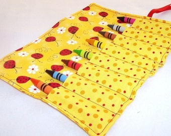Crayon Roll - LADYBUGS Crayon Roll Up