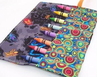 Crayon Roll - BUGS Crayon Roll Up - Kids - Stocking Stuffer - Ready to Ship