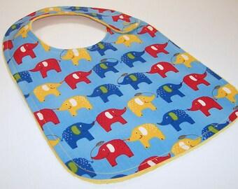 Baby Bib - ELEPHANTS Minky Baby Bib