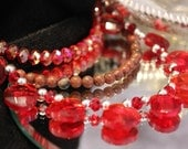 Sparkly Red Crystal Necklace