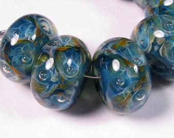Lampwork Beads, Glass Beads, Sea Garden - Lampwork Boro Glass Beads - bbglassart