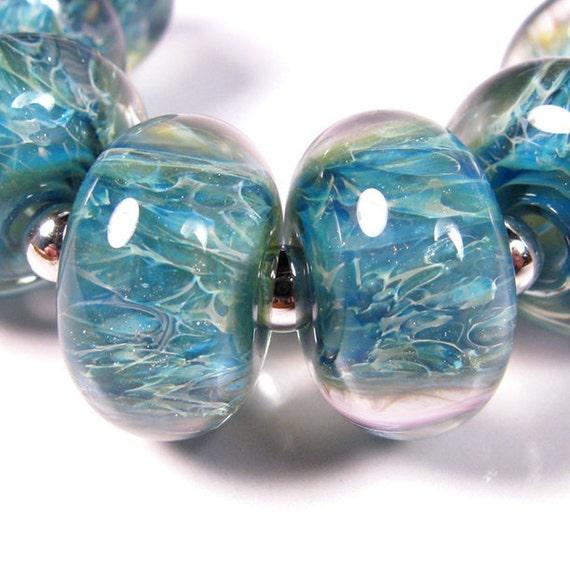 Rainy Kaleidoscope - BBGLASSART - Lampwork Boro Beads