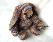 Hand knitted bunny of natural materials, 12inch